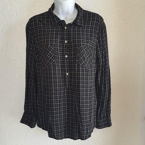 Merona Black and White plaid shirt